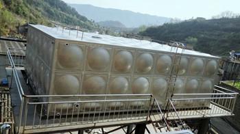 矩形不锈钢保温水箱120T  工地:广元