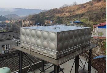 矩形不銹鋼保溫水箱120T  工地:廣元