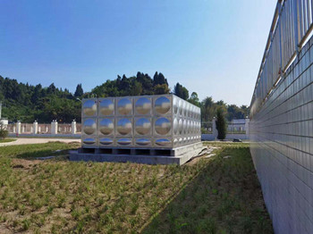 100吨矩形不锈钢水箱